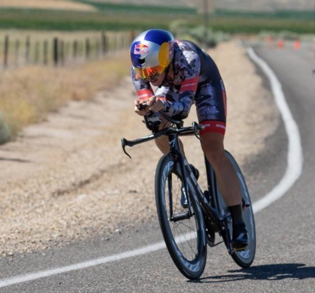Chloe Dygert Owen on the road at the Chrono Kristen Armstrong - photo by Snowy Mountain Photography.