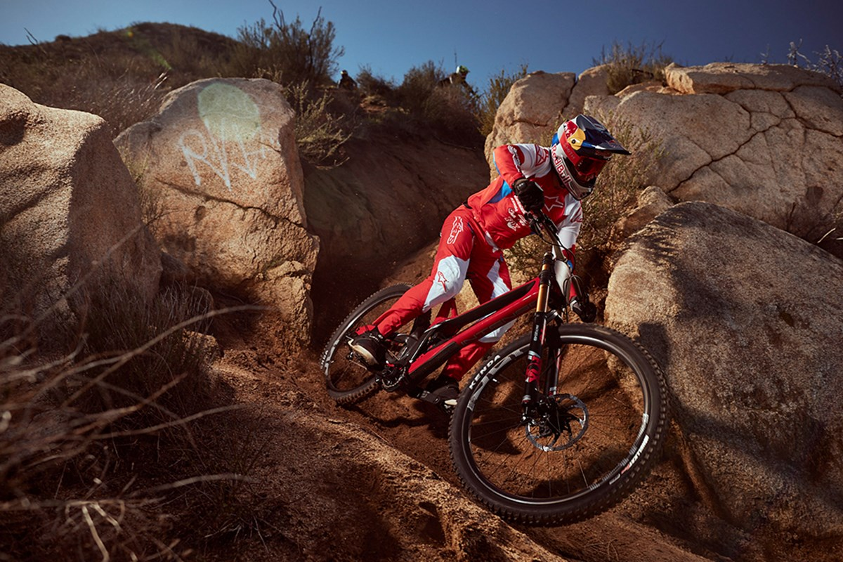 Aaron Gwin will be racing with the Kenda Hellkat